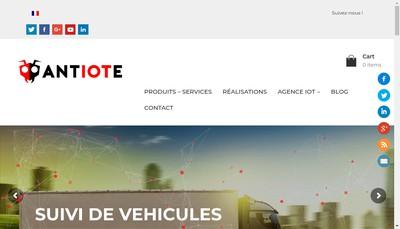 Site internet de Antiote