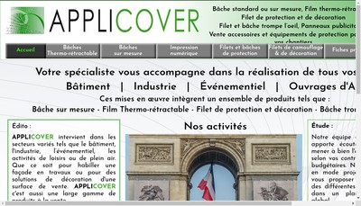 Site internet de Applicover - A2P Equipements