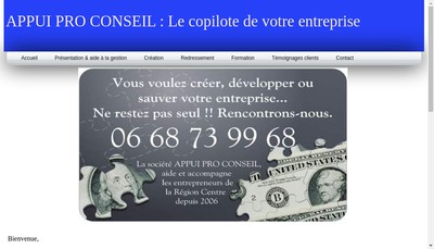 Site internet de Appui Pro Conseil