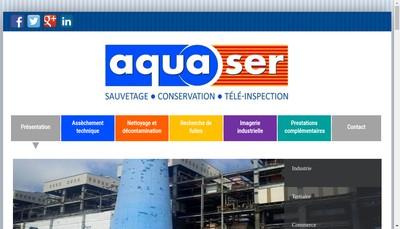 Site internet de Aquaser
