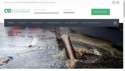 Site internet de Aquitaine Environnement et Etude de Sol