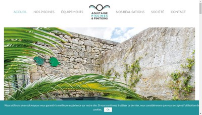 Site internet de Aquitaine Piscines et Finitions