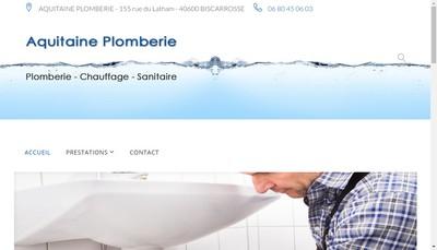 Site internet de Aquitaine Plomberie EURL