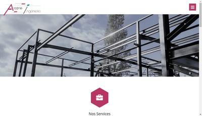 Site internet de Arcane Ingenierie