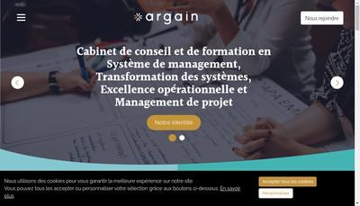 Site internet de Argain Formation - Argain Conseil