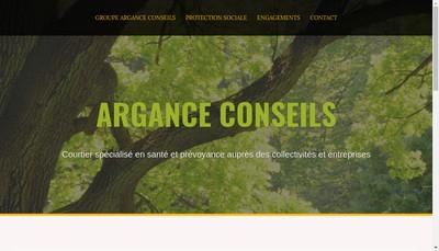 Site internet de Argance Conseils
