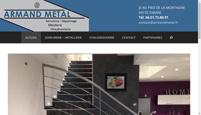 Site internet de Armand Metal SAS