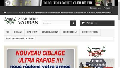 Site internet de Armurerie Vauban