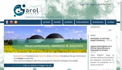 Site internet de Arol Energy