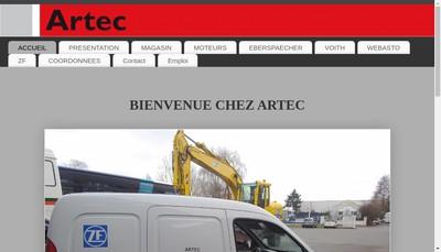 Site internet de Artec