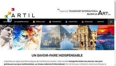 Site internet de Artil