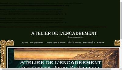 Site internet de Atelier Encadrement