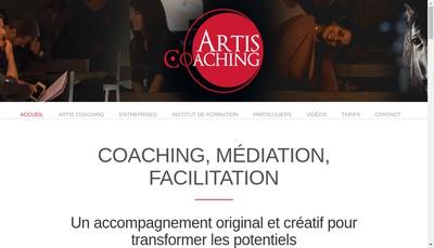 Site internet de Artis Coaching