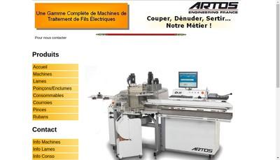 Site internet de Artos Engineering France