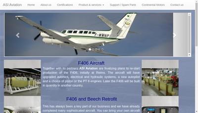 Site internet de Asi Aviation