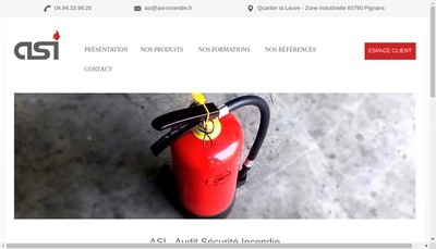 Site internet de Audit Securite Incendie