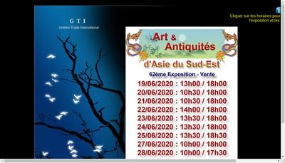 Site internet de Golden Trade International GTI