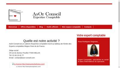 Site internet de Asor Conseil