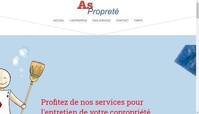 Site internet de As Proprete