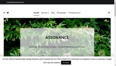 Site internet de Assonance