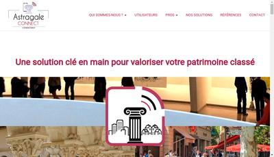 Site internet de Astragale Connect