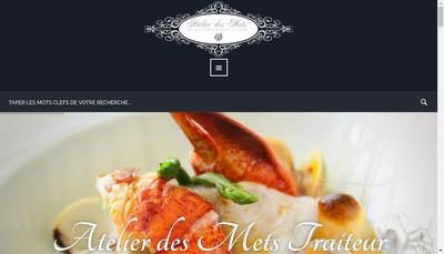 Site internet de Atelier des Mets