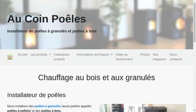 Site internet de Au Coin Poeles