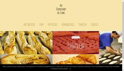 Site internet de Au Croissant de Lune