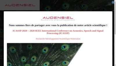 Site internet de Audensiel Technologies Sud-Ouest