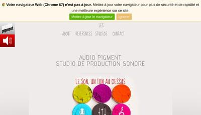 Site internet de Audio Pigment