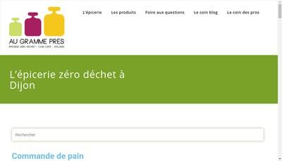 Site internet de Au Gramme Pres