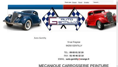 Site internet de Auto Gentilly