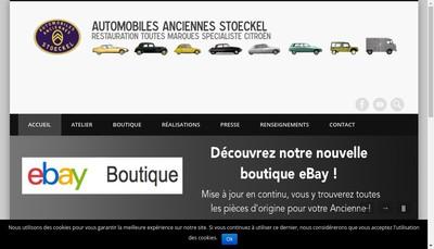 Site internet de Automobiles Anciennes Stoeckel