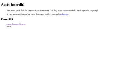 Site internet de SA Avenard Automobiles