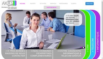 Site internet de Axup Telecom