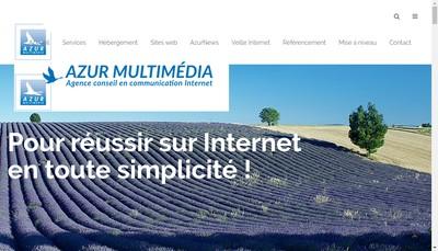 Site internet de Azur Multimedia