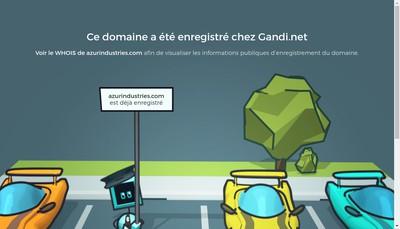 Site internet de Azur Industrie