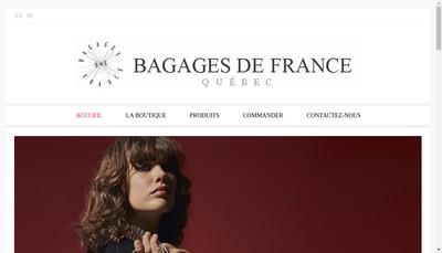 Site internet de Maroquinerie et Bagages de France