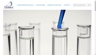 Site internet de Laboratoires Bailleul