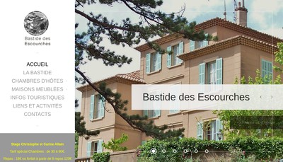 Site internet de Bastide des Escourches