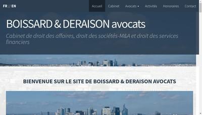 Site internet de Boissard & Deraison Avocats