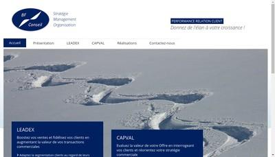 Site internet de Bf Conseil