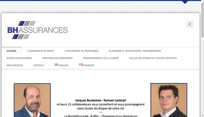 Site internet de Bh Assurances