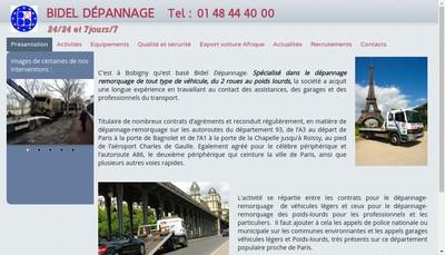Site internet de Bidel Depannage