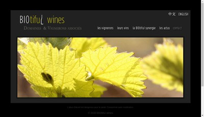 Site internet de Biotiful Wines