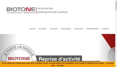 Site internet de Biotone Technologie SA