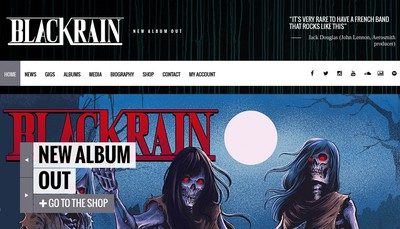 Site internet de Black Rain