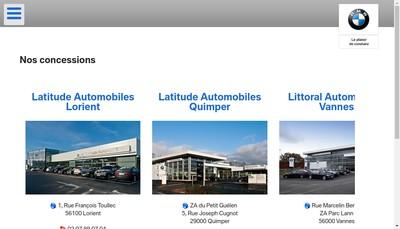 Site internet de Littoral Automobiles
