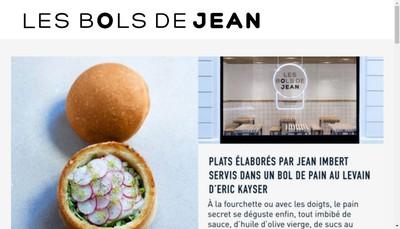 Site internet de Les Bols de Jean