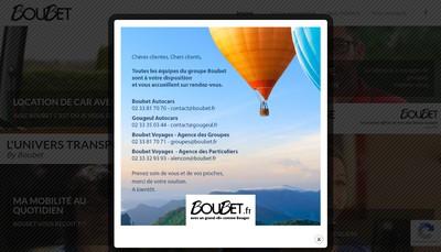 Site internet de Boubet Autocars